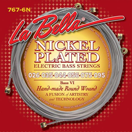 LaBella 767-6N Nickel Round Wound 6-String Bass Strings Nickel