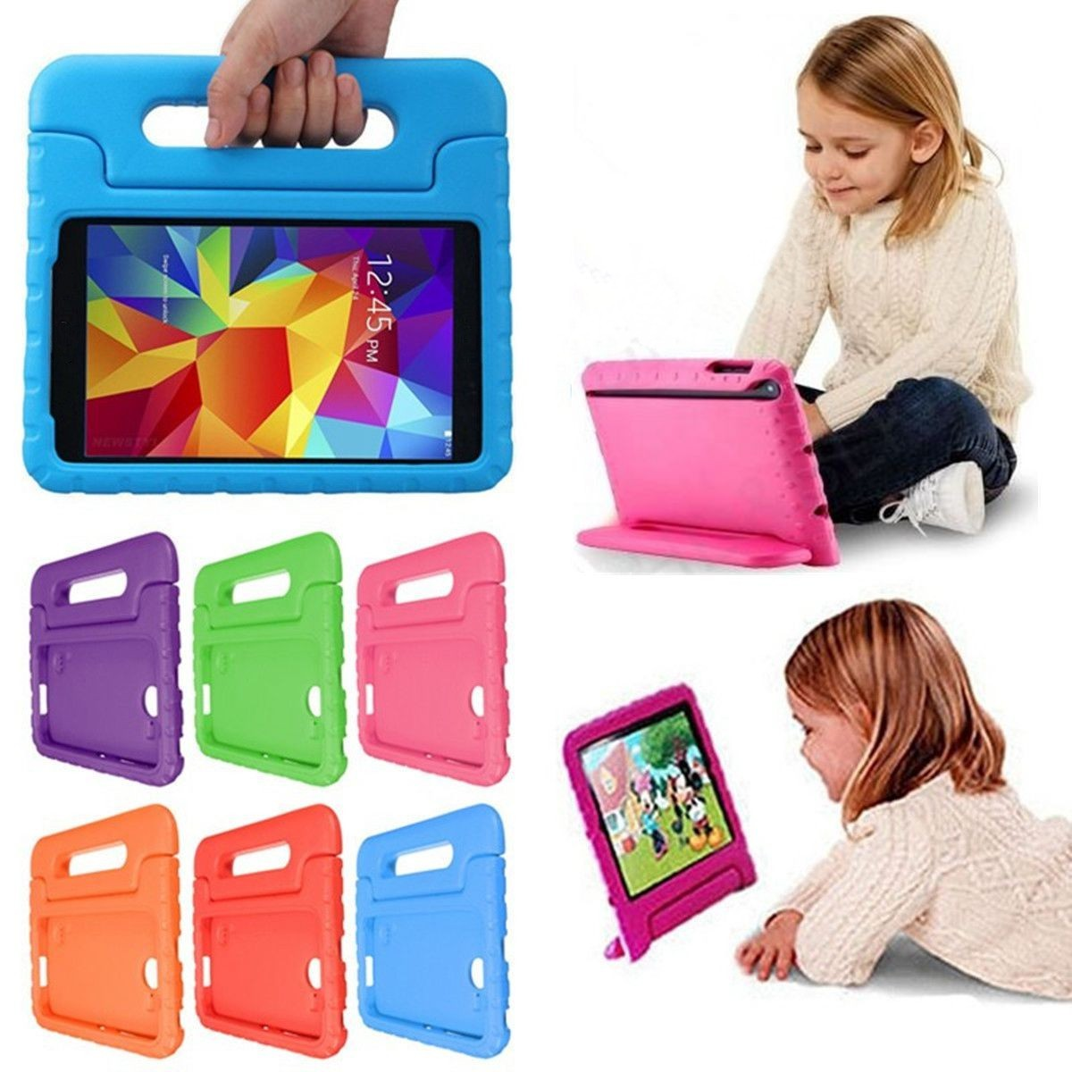 """Kids Handle Shock Proof Protective EVA Foam Stand Case Cover For Samsung Galaxy Tab S-10.5"""""""