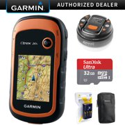 Garmin eTrex 20x Handheld GPS (010-01508-00) with 32GB Accessory Bundle Includes, 32GB Memory Card, LED Brite-Nite Dome Lantern Flashlight, Carrying Case & 4x Rechargeable AA Batteries w/ Charger