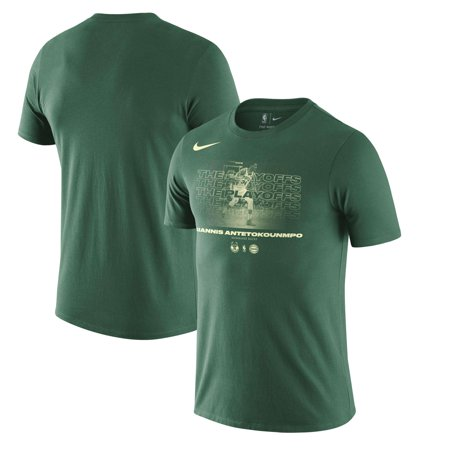 93d29255c32 Giannis Antetokounmpo Milwaukee Bucks Nike 2018 NBA Playoffs Player T-Shirt  - Hunter Green - Walmart.com
