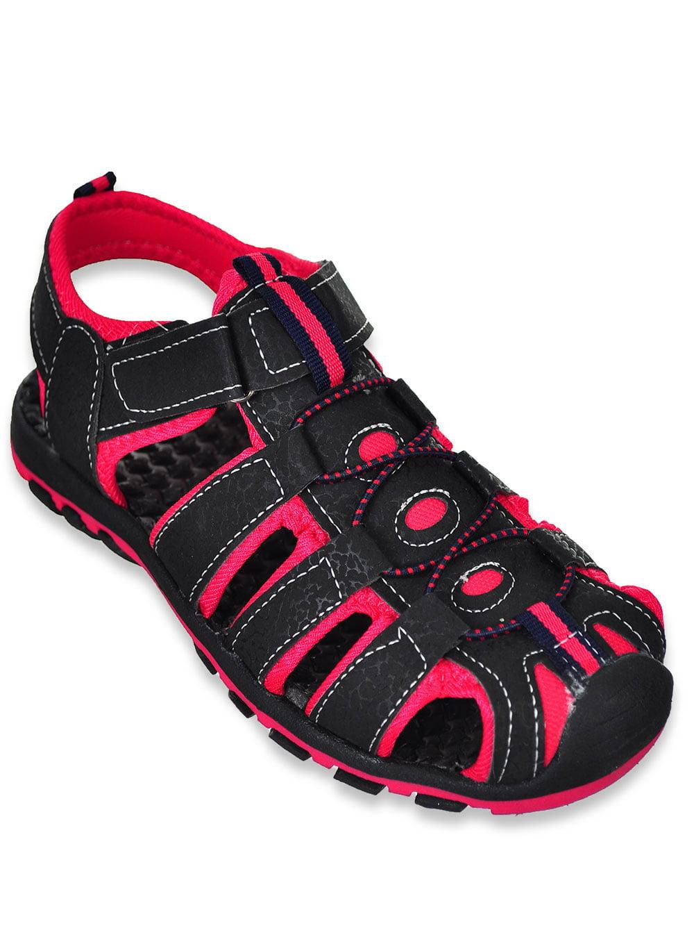 Rugged Bear Boys Sport Sandals Black//Fuchsia 13 Youth