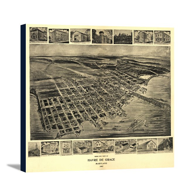 Panoramic Map 12x10 Gallery: Havre De Grace, Maryland