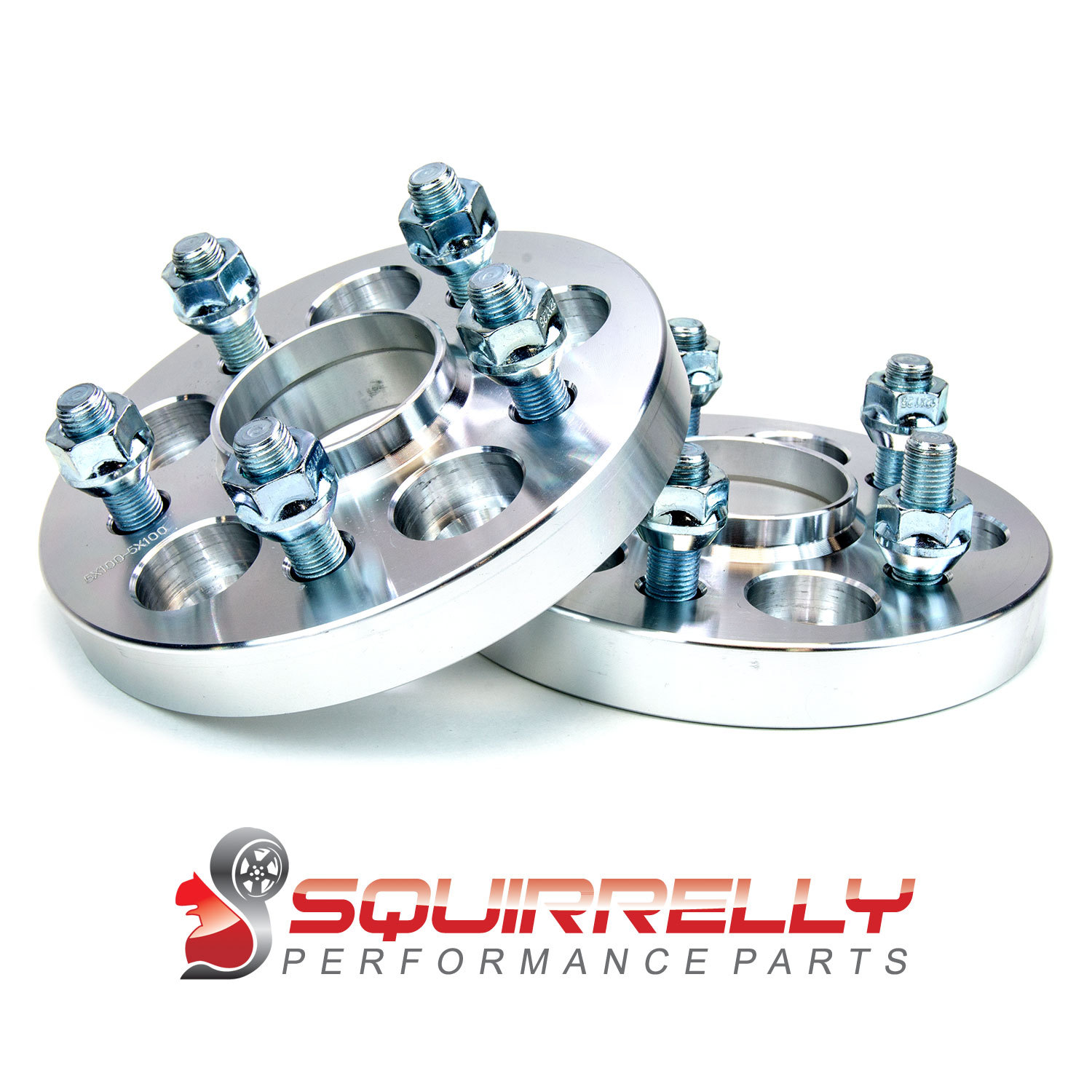 2x Squirrelly Hubcentric Wheel Spacers Adapters | 5x100 | 12x1.25 | 56.1 | 20mm