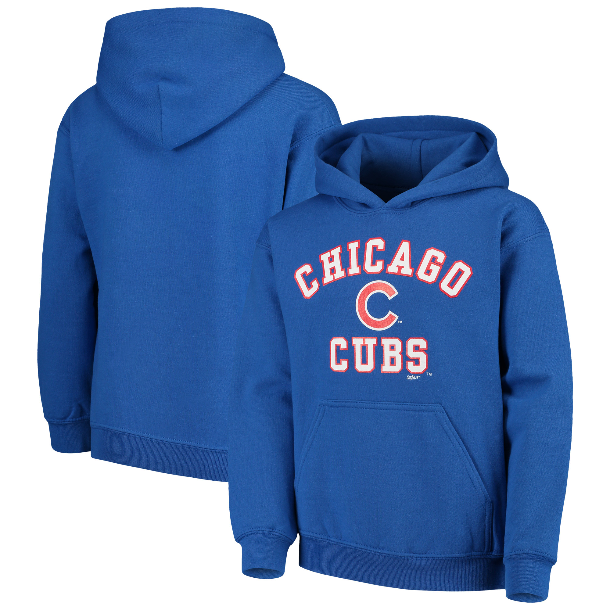 Chicago Cubs Stitches Youth Fleece Pullover Hoodie - Royal
