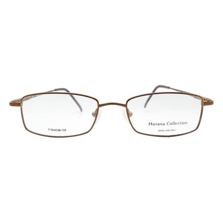 Havana Collection Men's Royale Eyeglasses Prescription Frames (Brown,