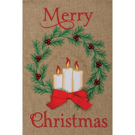 Custom Décor Candle Wreath Burlap Flag for $<!---->