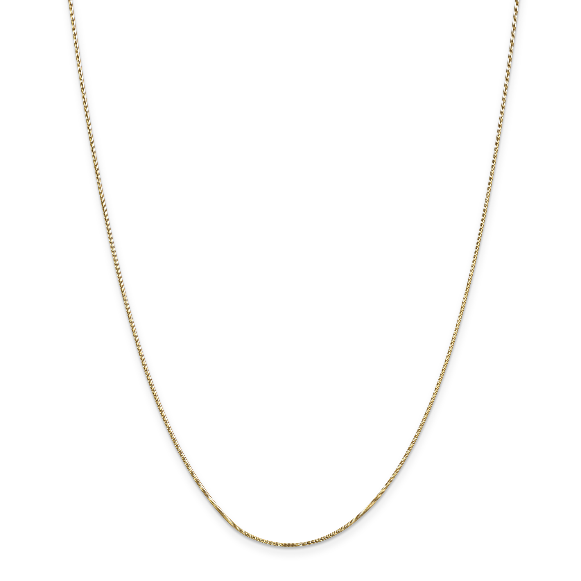 ICE CARATS 14kt Yellow Gold .90mm Round Snake Chain Necklace 16 Inch Pendant Charm Fine Jewelry Ideal Gifts For Women Gift Set From Heart