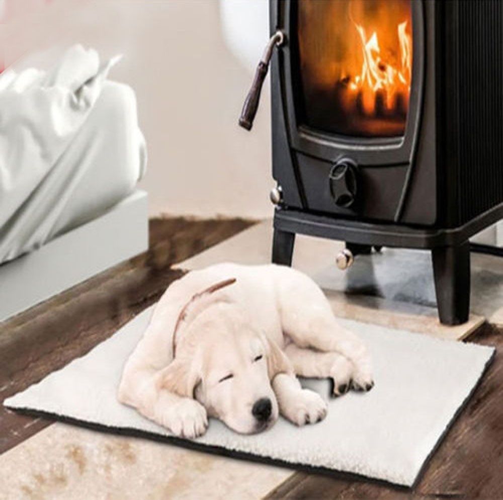 Self Heating Dog Cat Pet Bed Thermal Washable No Electric