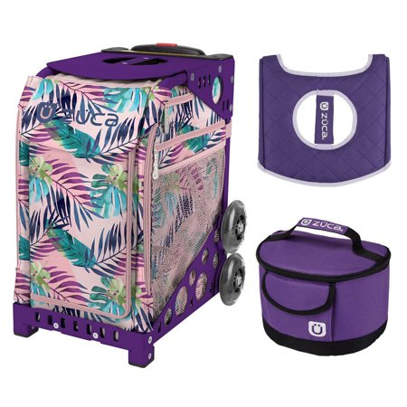 c909beda41de Zuca Sport Bag - Pink Oasis with Gift Lunchbox and Seat Cover (Purple Frame)