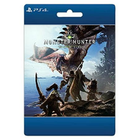 Monster Hunter World, Capcom, Playstation 4, [Digital Download], (Monster Hunter 3 Best Weapon)