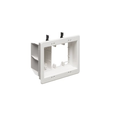 Arlington - 3-Gang Recessed TV Box for Power & Low Voltage - White - TVBU507