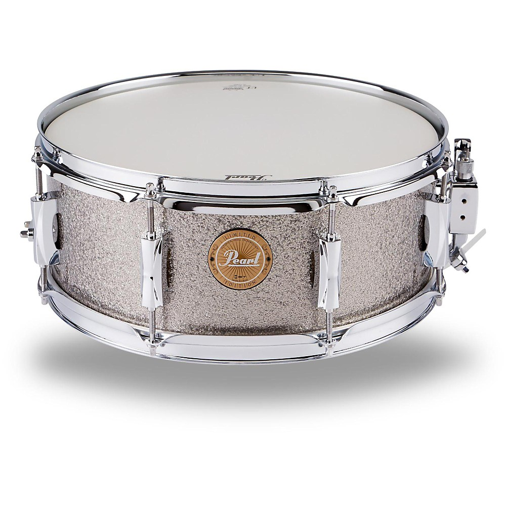 Pearl Vision Birch Snare Drum Gun Metal Sparkle with Chrome Hardware 14x5.5