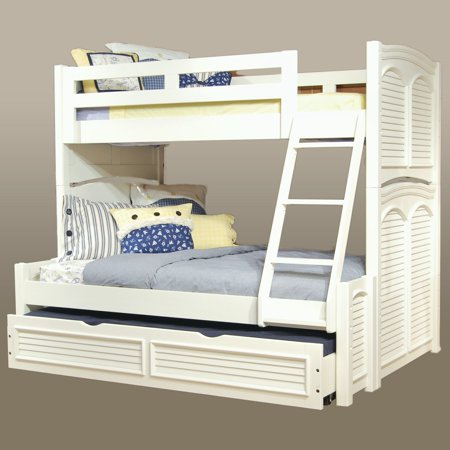Pleasing American Woodcrafters Cottage Traditions Twin Over Full Bunk Bed Eggshell White Best Image Libraries Counlowcountryjoecom