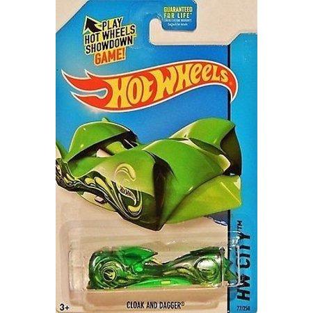 City Wheels Twin (Hot Wheels Treasure Hunt HW City Cloak And Dagger Green #77/250, 1:64 By Mattel)
