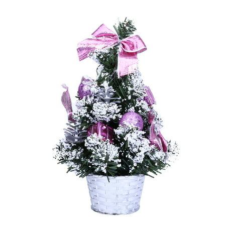 CARLTON GLOBAL Mini Christmas Tree Ornament Desk Table Festival Xmas Party Decor Gifts 25cm ()