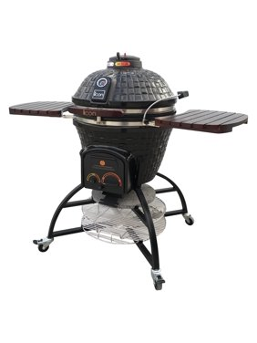 Icon Grills CG701 Charcoal Kamado Grill with Storage Cart