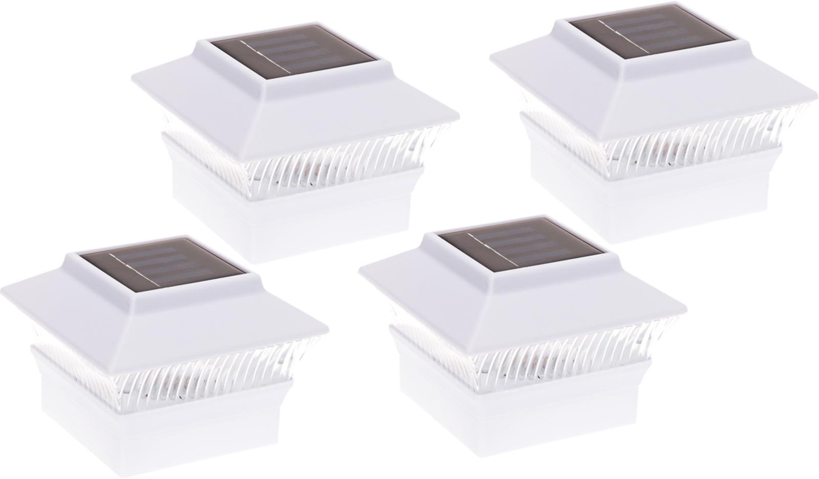 "4-Pack Black Solar LED Light For 4/""x4/"" Wood /& PVC /& Vinyl Square Fence Post"