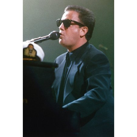 Billy Joel At Piano In Concert Color 24X36 Poster