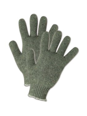 Magid Greyt Shadow Womens Grey Knit Cotton Gloves, 12 Pairs