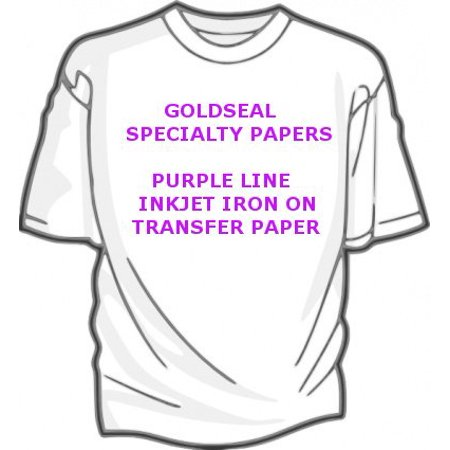 t shirt purple line iron on transfer paper 8 5 x 11 custom pack 25