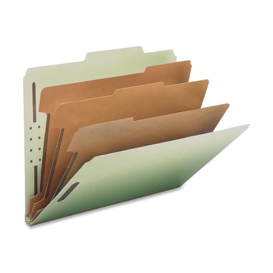 Nature Saver, NAT01058, Recycled Gray/Green Classification Folders, 10 / Box, Gray/Green