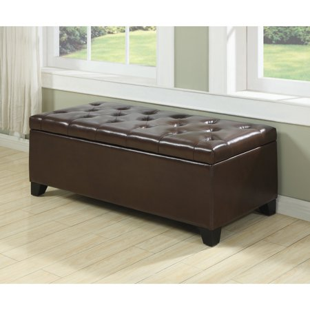 Swell Strick Bolton Hanne Tufted Leather Storage Ottoman Caraccident5 Cool Chair Designs And Ideas Caraccident5Info