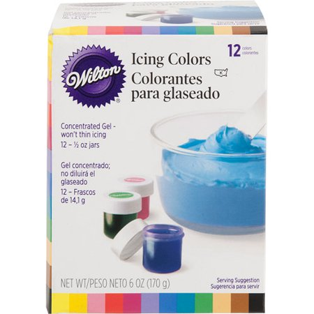 product wilton 5 oz icing colors assorted colors 12 ct 601 5580 - Colorant Wilton