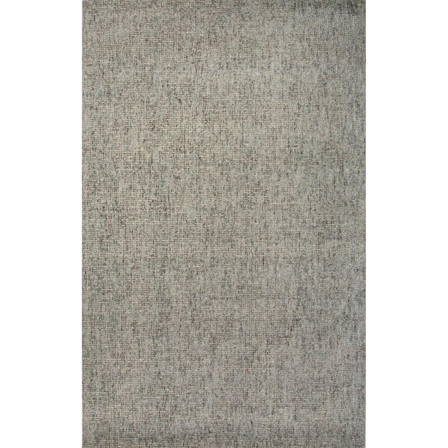 8' x 10' Light Gray and Pale Blue Britta Plus Hand Tufted Wool and Art Silk Area Throw Rug