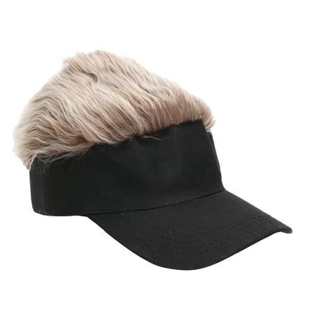 Funny Men Adjustable Flair Hair Visor Casquette Hat Golf Fashion Wig Cap (Flair Fashion)