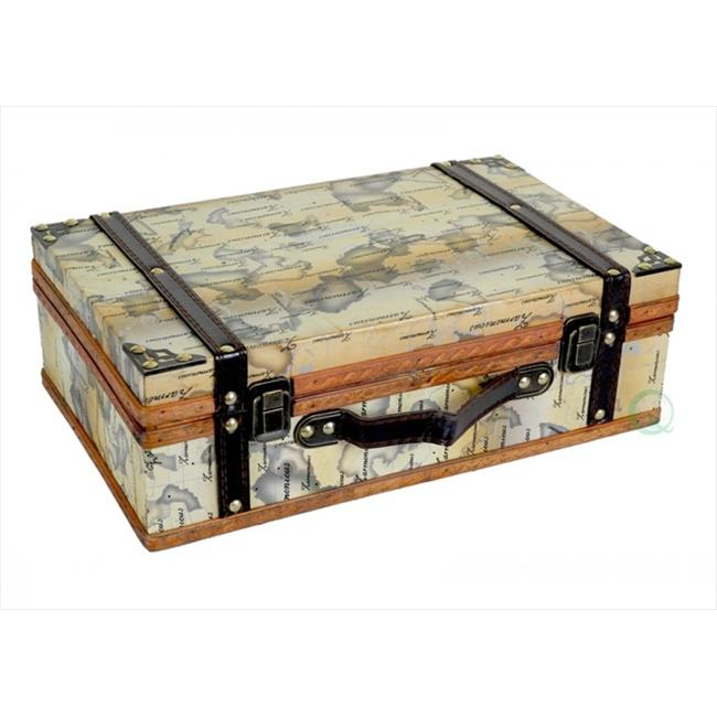 Quickway Imports QI003030 Old World Map Suitcase