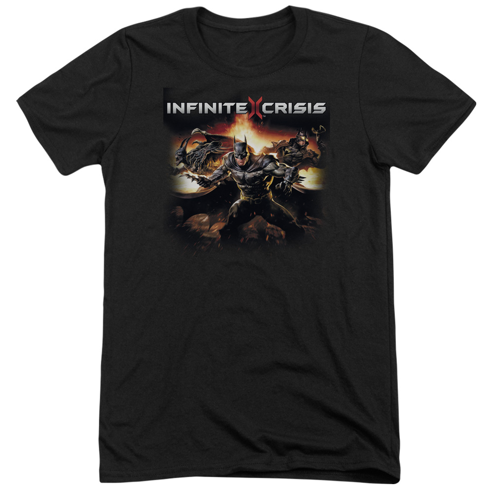 Infinite Crisis Batmen Mens Tri-Blend Short Sleeve Shirt
