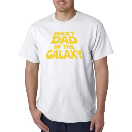 New Way 715 - Unisex T-Shirt Best Dad In The Galaxy Star Wars Opening
