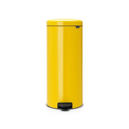 Brabantia Trash Can Newicon, 8 Gallon / 30L Daisy Yellow 30l Retro Pedal Bin