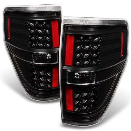 Fit Black 2009-2014 Ford F150 F-150 LED Tail Lights Lamps 2010 2011 2012 2013 ()