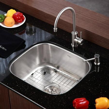 Kraus Kbu11 Kpf2160 Sd20 Single Basin Undermount Kitchen Sink With