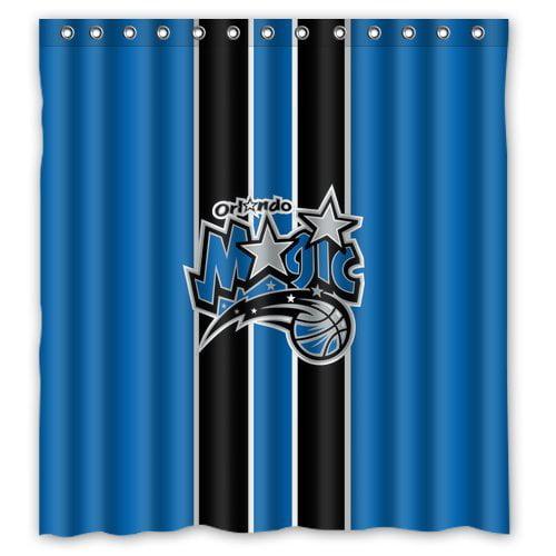 DEYOU Orlando Magic Retro Shower Curtain Polyester Fabric Bathroom Shower Curtain Size 66x72 inches