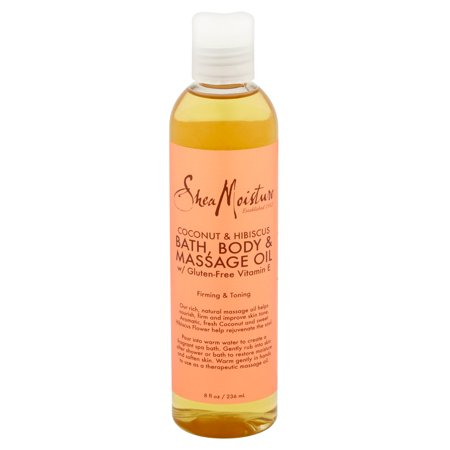 - Shea Moisture Coconut & Hibiscus Bath-Body & Massage Oil Firming & Toning