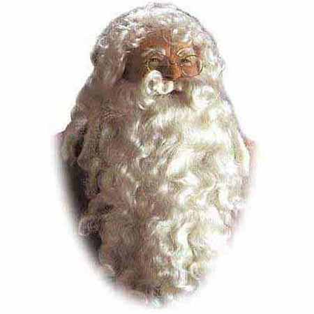 Santa Wig and Beard Set Adult Christmas Accessory - Theatrical Beard