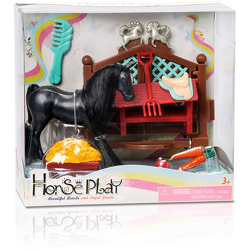 Horse Play Black Primped-N-Pretty Horse Grooming Set
