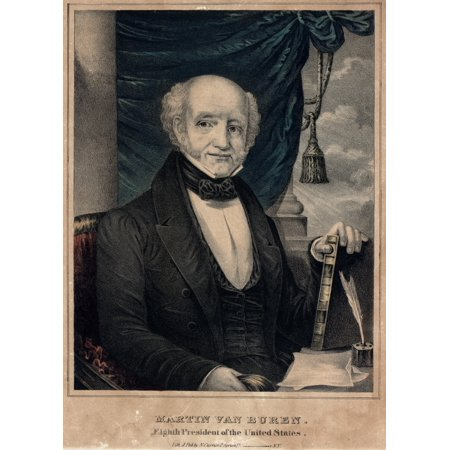 martin van buren as president of the united states between 1837 1840 hand colored lithograph published by n currier history