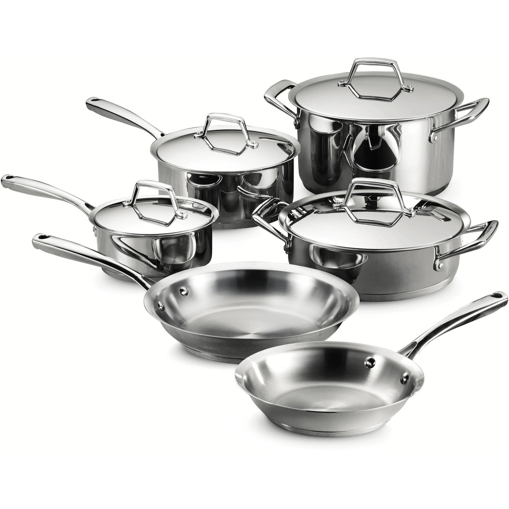 Tramontina Gourmet Prima 10-Piece Stainless Steel Cookware Set by Tramontina USA Inc.