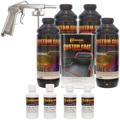 Bed Liner CUSTOM COAT BRIGHT WHITE 4-L Urethane Spray-On Truck Kit w/ Spray Gun