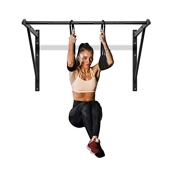 Yes4All Heavy Duty Wall Mounted Pull Up Bar/Chin-Up Bar with ...