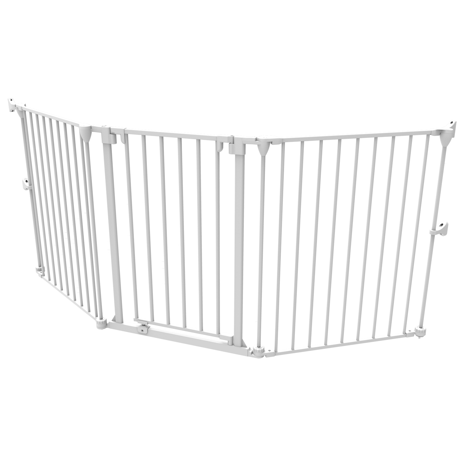 """Extra Wide Barrier Gate, Fits 28.8"""" - 76.4"""" or Playpen Extension, White"""