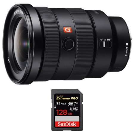 Sony (SEL1635GM) FE 16-35mm F2.8 GM Wide-angle Zoom Lens Full-Frame E-Mount Cameras w/ Sandisk Extreme PRO SDXC 128GB UHS-1 Memory