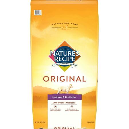 Nature's Recipe Adult Lamb Meal & Rice Recipe,
