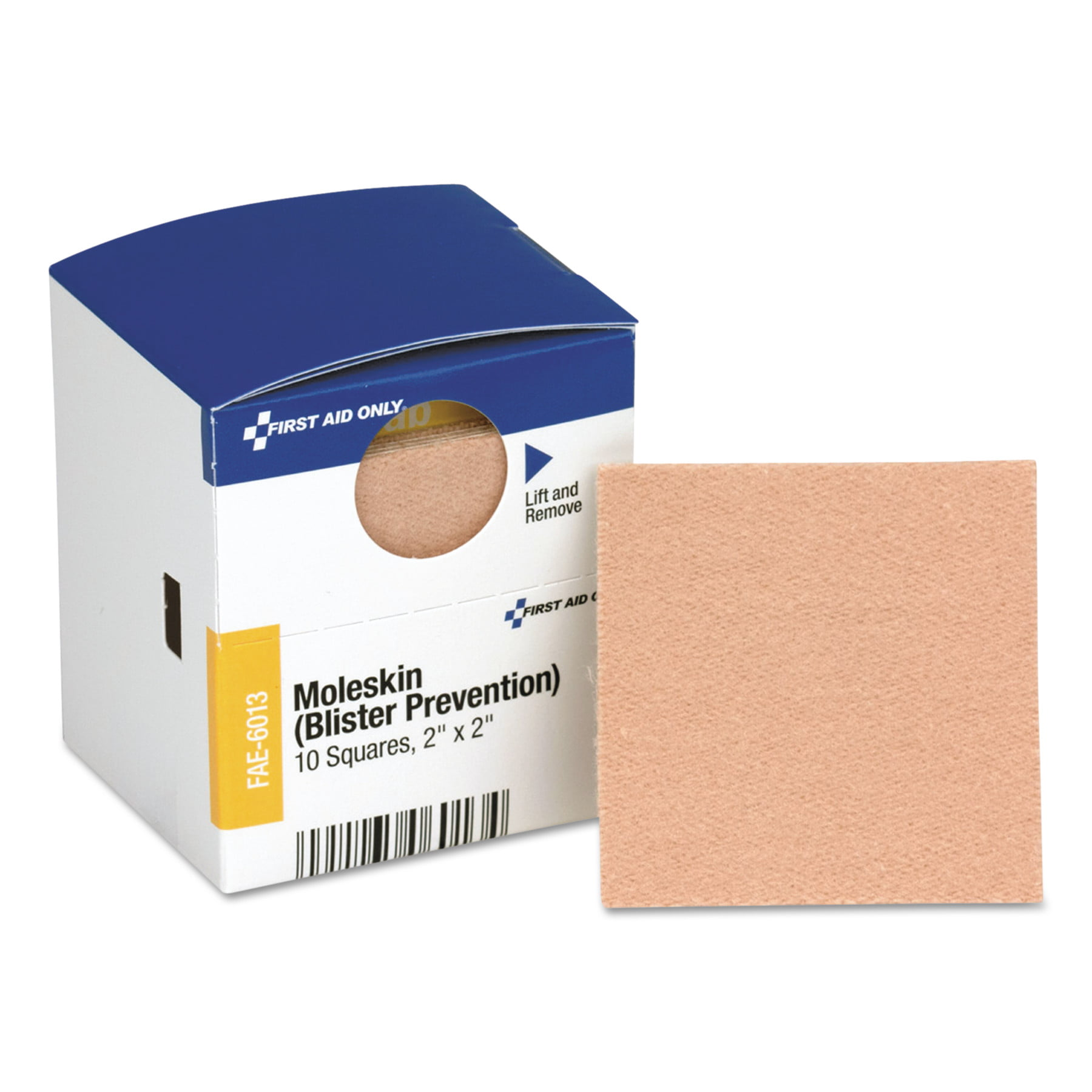 """First Aid Only Moleskin Blister Protection, 2"""" Squares, 10 Box by FIRST AID ONLY, INC."""
