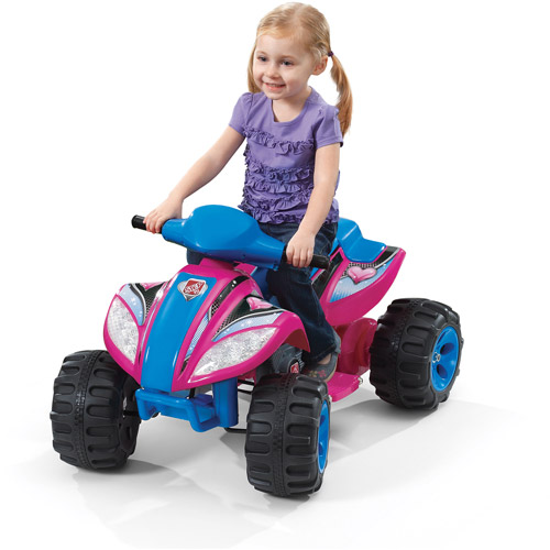 Step2 Max Quad 6-Volt Battery-Powered Ride-On, Pink