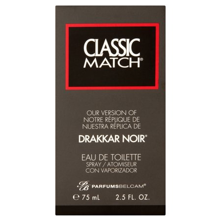 Parfums Belcam Classic Match For Men Drakkar Noir Eau De Toilette Spray  2 5 Fl Oz