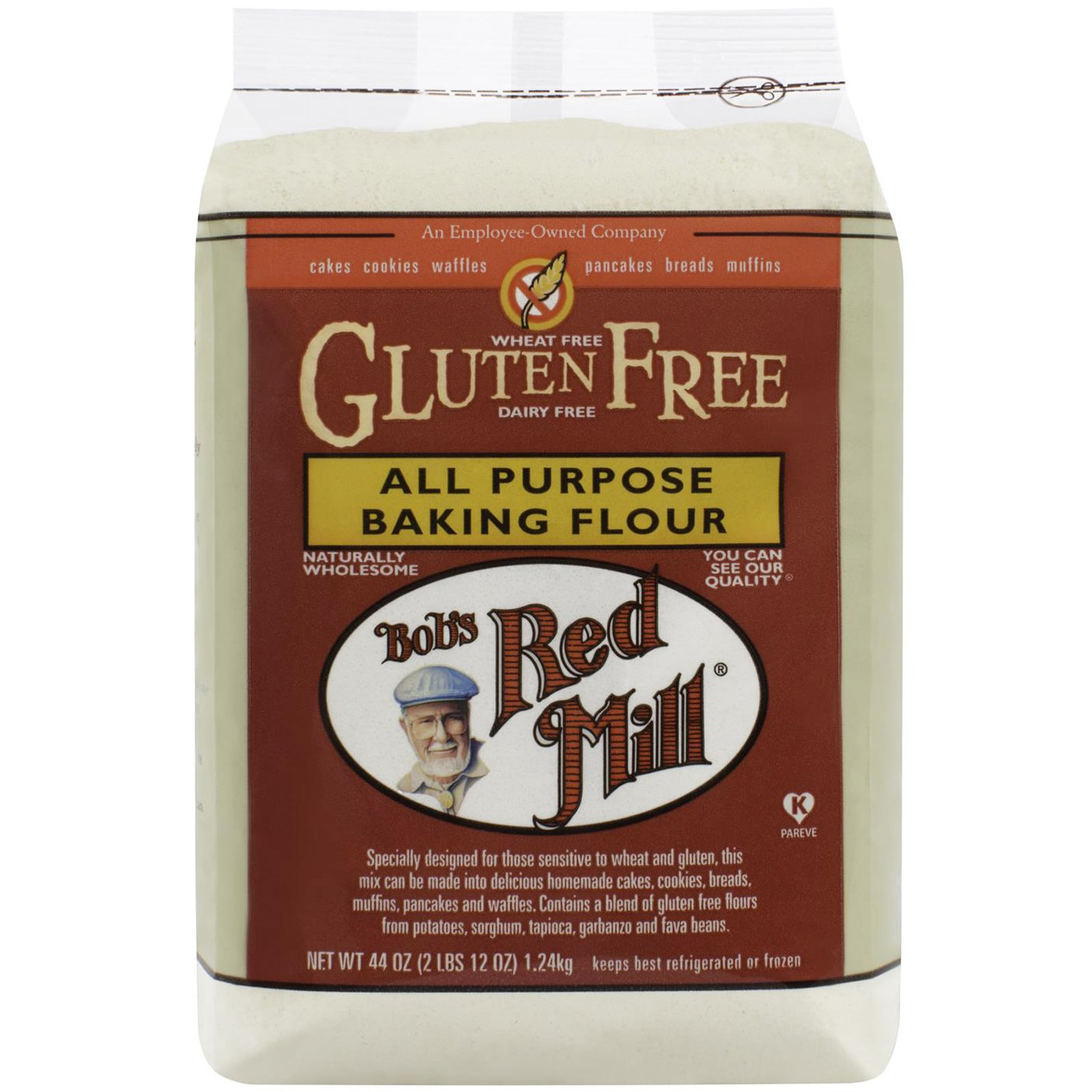 Bob's Red Mill, All Purpose Baking Flour, Gluten Free, 44 oz (pack of 2)